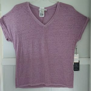 NWT forever 21 pink soft s/s burnout tshirt